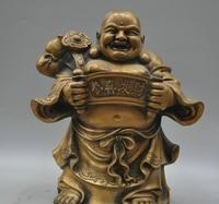 xd 002317 13 Tibetan Buddhism Bronze Bag Maitreya Buddha Sculpture Statue