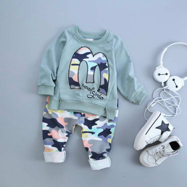 2017 Spring Autumn Kids Clothes Boys Girls Clothing Set Baby Toddler Girls Clothing Children Tracksuit Kids Hip Hop Clothing