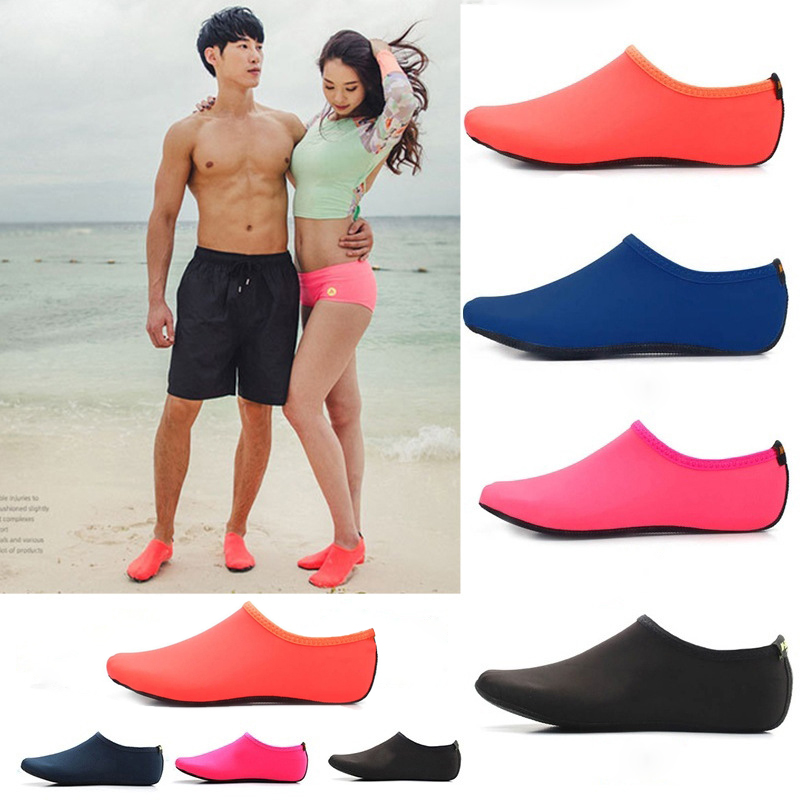 Men Women Barefoot Water Surf Shoes Quick Dry Upstream Shoes Beach Pool Swim Bathing Sneaker Yoga Wet Swimming Shoes Socks