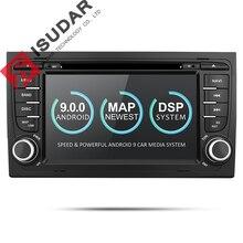 Isudar 2 Din Auto Lettore Multimediale GPS Android 9 DVD Automotivo Per Audi/A4/S4 2002-2008 radio Quad Core RAM 2 GB ROM 16 GB DSP