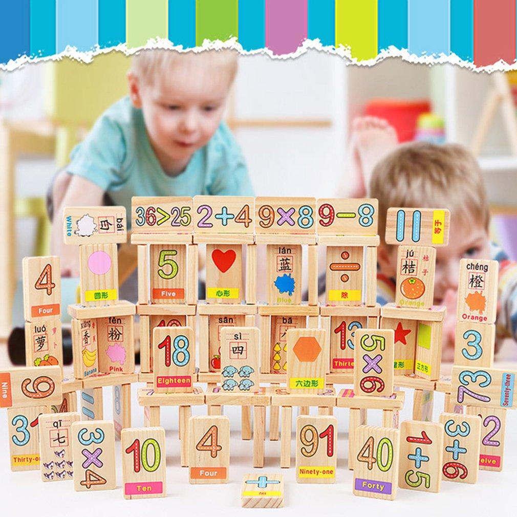 36 pièces carte en bois préscolaire mathématiques nombre calcul jouet caractères reconnaissance blocs de construction pour les nourrissons - 2