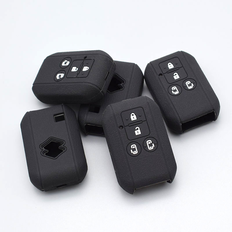 10 units Silicone Car Key Cover FOB Case for Suzuki Swift Wagon R Japan Monopoly 4 Buttons Remote Key Case Car Styling