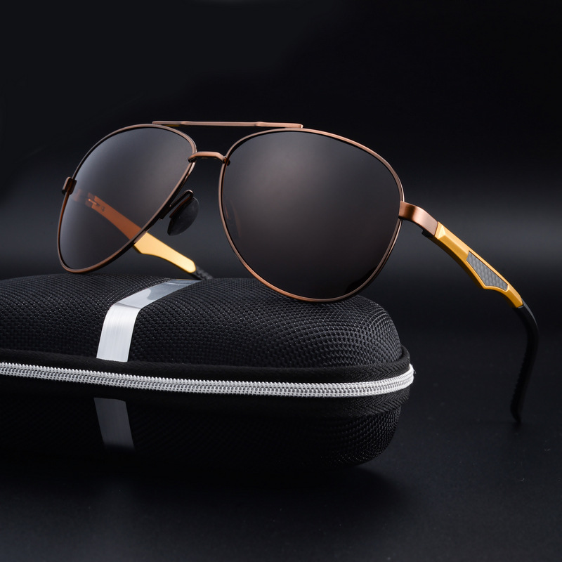 Homme HD Lunettes De Soleil Polarisées UV400 Conduite Lunettes Alliage revêtement miroir Eyewear
