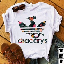 Dracarys Women T shirt Game of Thrones Daen White T-shirt Summer Harajuku T Shirt Mother of Dragon Tee Shirt Camisetas Mujer цена и фото