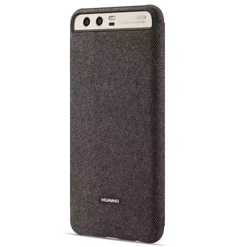 premium selection 5e1e2 ffb89 Original Official Flip Cover For HUAWEI P10 Plus Case With Smart View  Window Canvas Fabric Auto Sleep Wakeup High Class Business Style