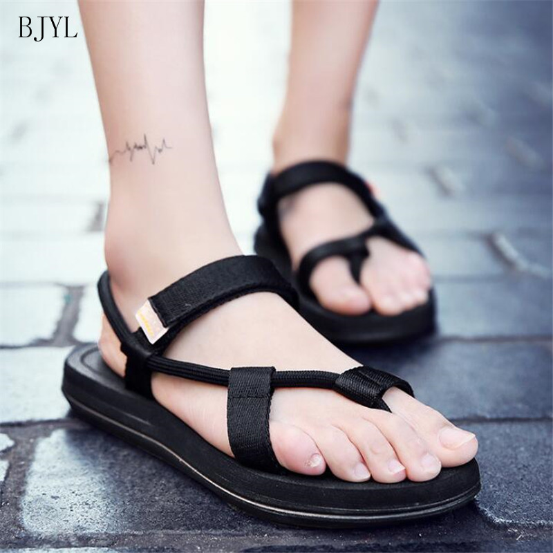 BJYL 2019 New Summer Slippers Sandals Outdoor Couples Personality Tide Beach Herringbone Comfortable Men B194