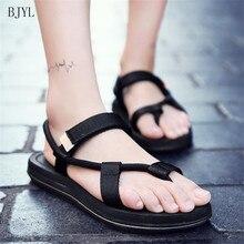 BJYL 2019 New Summer Slippers Sandals Outdoor Couples Personality Tide Beach Herringbone Comfortable Men B194