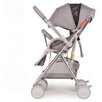Babyfond Высокая Ландшафтная детская коляска двухсторонняя тележка 175 градусов ультра легкая переносная четырехколесная детская тележка