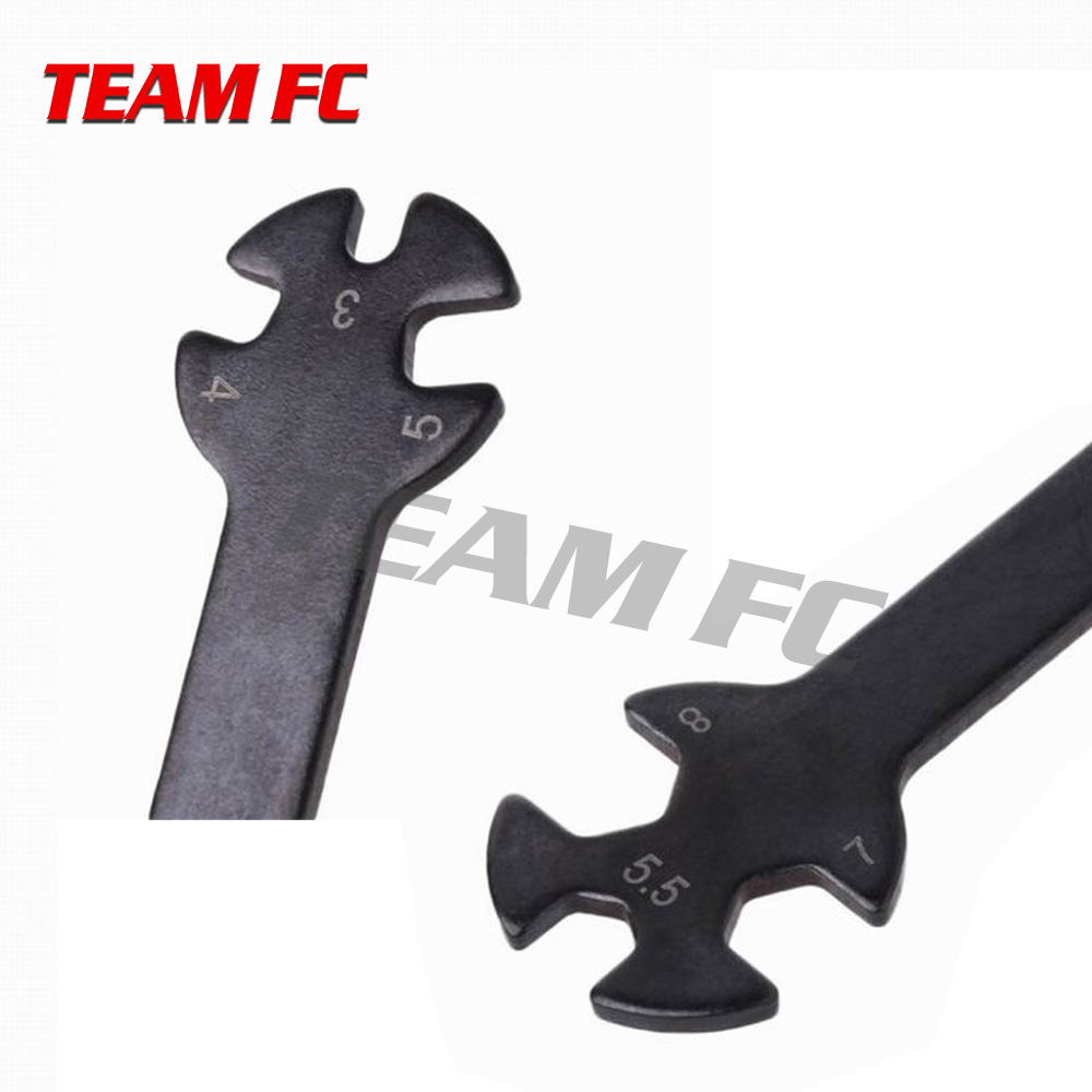 2Pcs Special Tool Wrench For Turnbuckles Nuts DY181090 3 4 5 5 5 7 8MM For 1 8 1 10 M3 M4 M5 5 M7 M8 Nut Screw RC Car S233 in Parts Accessories from Toys Hobbies