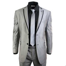 Ternos Masculino Custom Made Grey Men Slim Fits Suits Tuxedos Grooms Suits Wedding Suits Business Suits