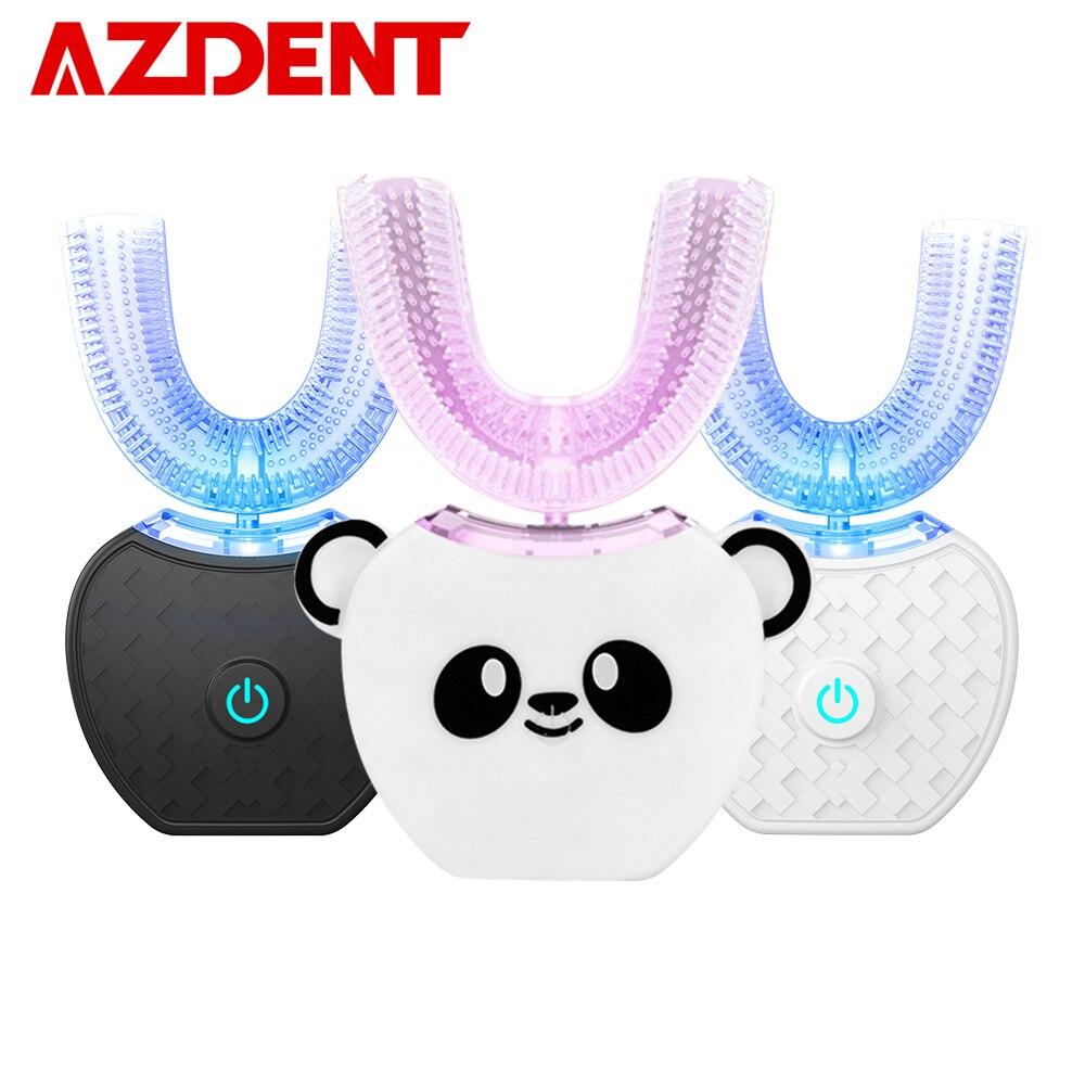 Akıllı U 360 otomatik Sonic elektrikli diş fırçası şarj edilebilir Ultra sonic çocuklar için diş fırçası yetişkin diş beyazlatma ağızlık