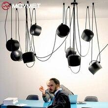 現代のペンダントライトダイニングルームホームリビング黒ランプ備品ハンギングレストランカフェ装飾照明照明器具