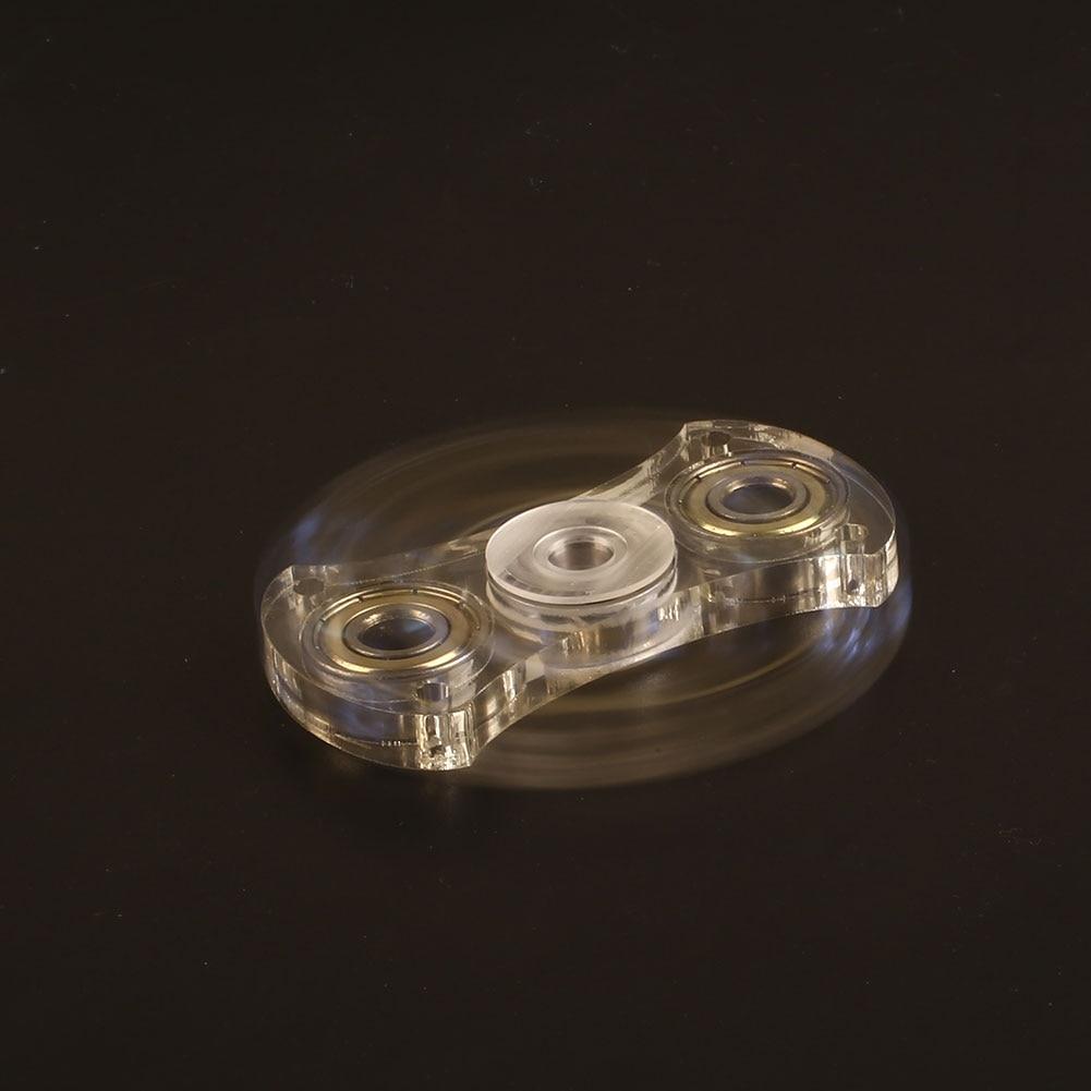 Transparent Fidget Spinner EDC Hand Spinner Spin Metal Plastic Custom Bearing Toy