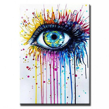 High Quality  Modern Abatract Wall Art Oil Painting On Canvas for home decoration abstract eyes painting