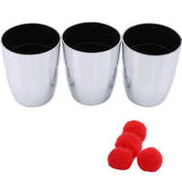 Ultimate Cups Balls Magic Tricks Free Shipping Magia Trick Toys Child Easy Close Up Fun Magie 3pcs Cups + 4 Balls