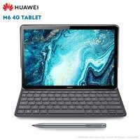 Original Huawei M6 4G Tablet PC 10.8 inch Android 9.0 EMUI 9.1 Kirin 980 4GB RAM 64GB ROM 13.0MP Fingerprint Sensor