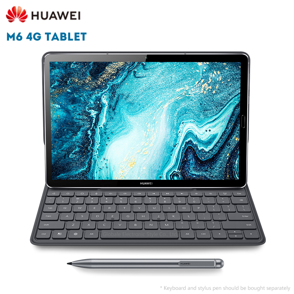Original Huawei M6 4G Tablet PC 10.8 polegada Android 9.0 EMUI 9.1 Kirin 980 64 4GB RAM GB ROM 13.0MP Sensor de Impressão Digital