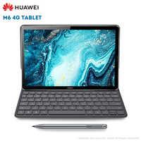 Original Huawei M6 4G Tablet PC 10.8 polegada Android 9.0 EMUI 9.1 Kirin 980 64 4GB RAM GB ROM 13.0MP Sensor de Impressão Digital