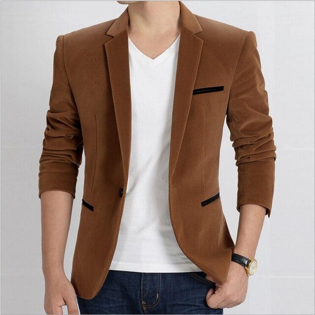 Мужчины костюм высокая - конец мужчины в один - однобортный пиджак мужчины в костюм марка м-xxxl 4 цвета
