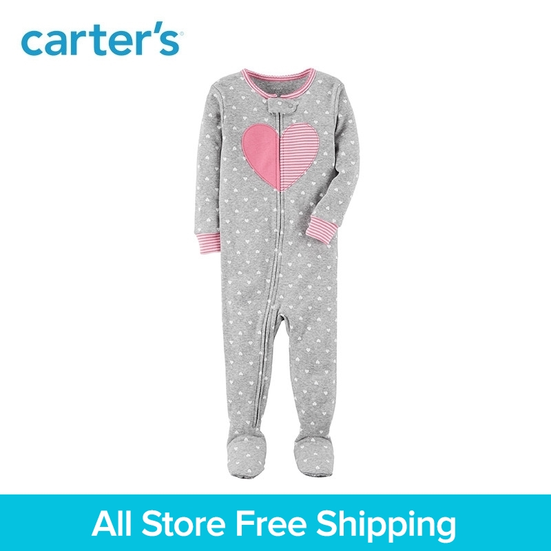 Carters 1-Piece baby children kids clothing Girl Heart Snug Fit Cotton PJs 23548910