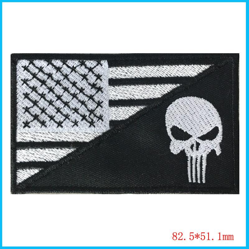 Tactical USA <font><b>Flag</b></font> <font><b>Patch</b></font> - Black & <font><b>White</b></font> by Gadsden and Culpeper