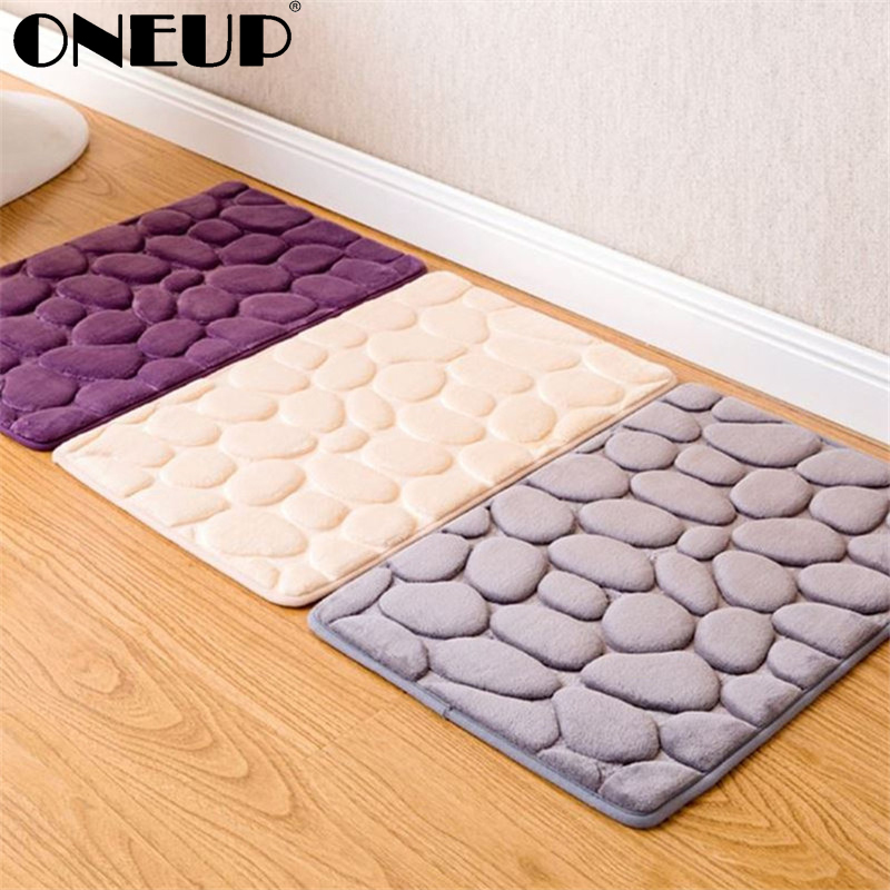 Oneup Furry Memory Foam Bath Mat Set