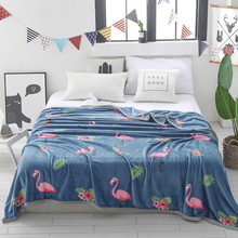 New Soft Coral Fleece Blanket for beds/Sofa/Plane/Travel couverture polaire Throw koc deken Winter Flamingo Blankets