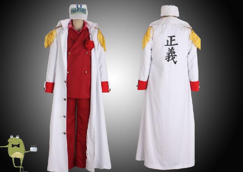 One Piece Admiral Akainu Sakazuki Cosplay Marine Coat ...
