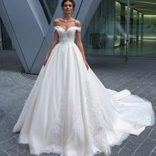 SexeMara Wedding Dresses with Backless Chapel Train