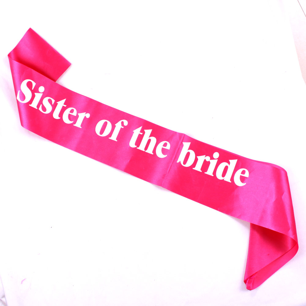 Ξ6pcs Satin sash sister of the bride pink sweet bachelorette party ...