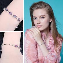 925 Sterling Silver Natural Mystic Topaz Bracelets For Women