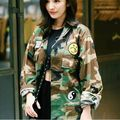 2017 New Fashion Women Camouflage Jackets Military Outwear Veste Femme Ladies Long Sleeve Short Jacket Blouses Casual Coat  H326