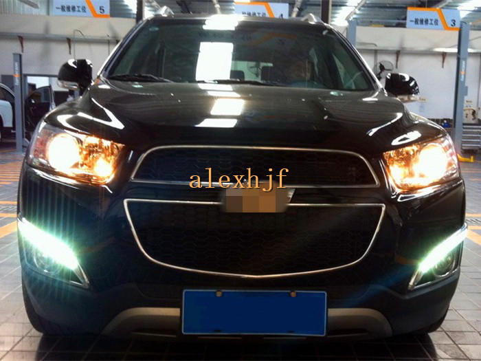 July King LED Daytime Running Light DRL 10LEDs Fog Lamp case for Chevrolet Captiva SUV 2011~13 1:1, Full Rim electroplating