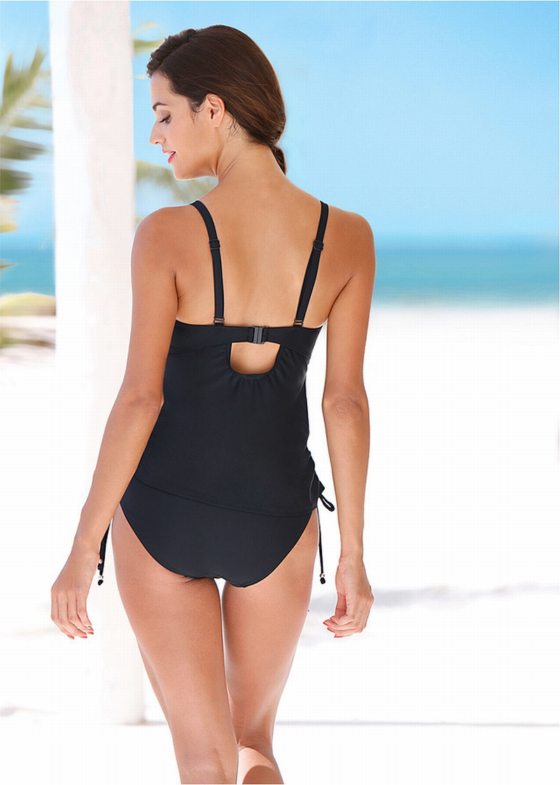 Sexy Push Up Padded Two Pieces Sling Women Swimsuit Strappy Bikini set Bathing suit Beach Biquinis Feminino 2019 Swimwear in Body Suits from Sports Entertainment