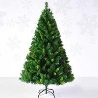 1.5 메터/150 센치메터 고급스러운 암호화 혼합 포인트 잎 자동 크리스마스 트리 크리스마스 쇼핑몰 홈 장식
