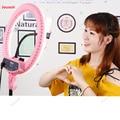 Светодиодное кольцо для мобильного телефона с живым наполнителем  HD макияж  красота  нежная кожа  световое кольцо  лампа для камеры  лампа CD50...