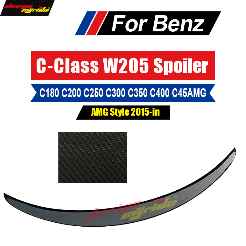 For Mercedes Benz W205 AMG-style Carbon Fiber Trunk Spoiler Rear Wing C Class Coupe C180 C200 C220 C250 C300 C350 C440 2015-2018 fenix hp25r 1000 lumen headlamp rechargeable led flashlight