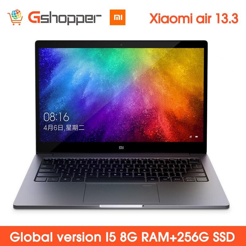 Global Versão Original Xiao mi mi Notebook 13.3 Polegada Laptop Ar 8G ram 256G ssd Quad-Core intel i5 GeForce 8250U MX150 DDR4