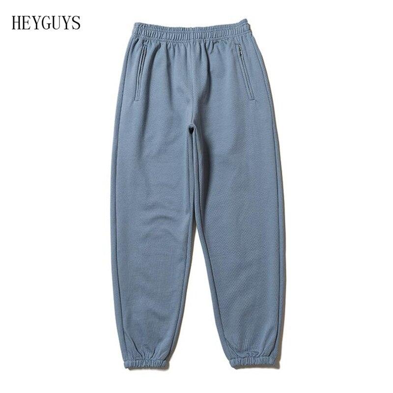 HEYGUYS  Hip Hop Kanye West Season6 Pants Skateboards CALABASAS Sweatpants Men Cotton Thick Beam Cargo Harem Pant Men Cloth