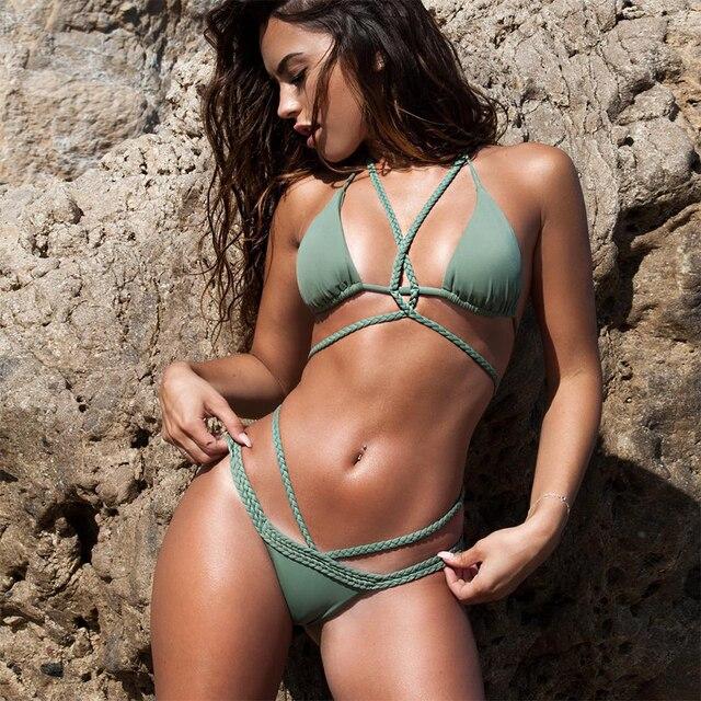 String Cross Low Waist Bikini 2