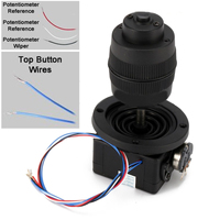 1pc 4 Axis Joystick Potentiometer Button Black For JH D400X R4 10K 4D With Wire 49