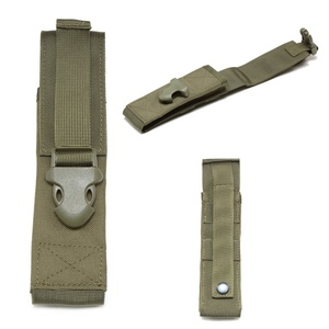 Image 3 - Flashlight Holder Case 1000D Nylon Molle Light Holster Army Tactical Flashlight Pouch For Camping Hiking Hunting