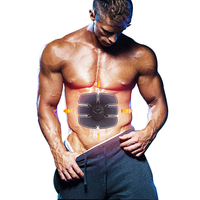 Fashion Abdominal Muscle Trainer Body Massage Electric Slimming Massage Training Pads Effective Fat Burner Gymnic Belt