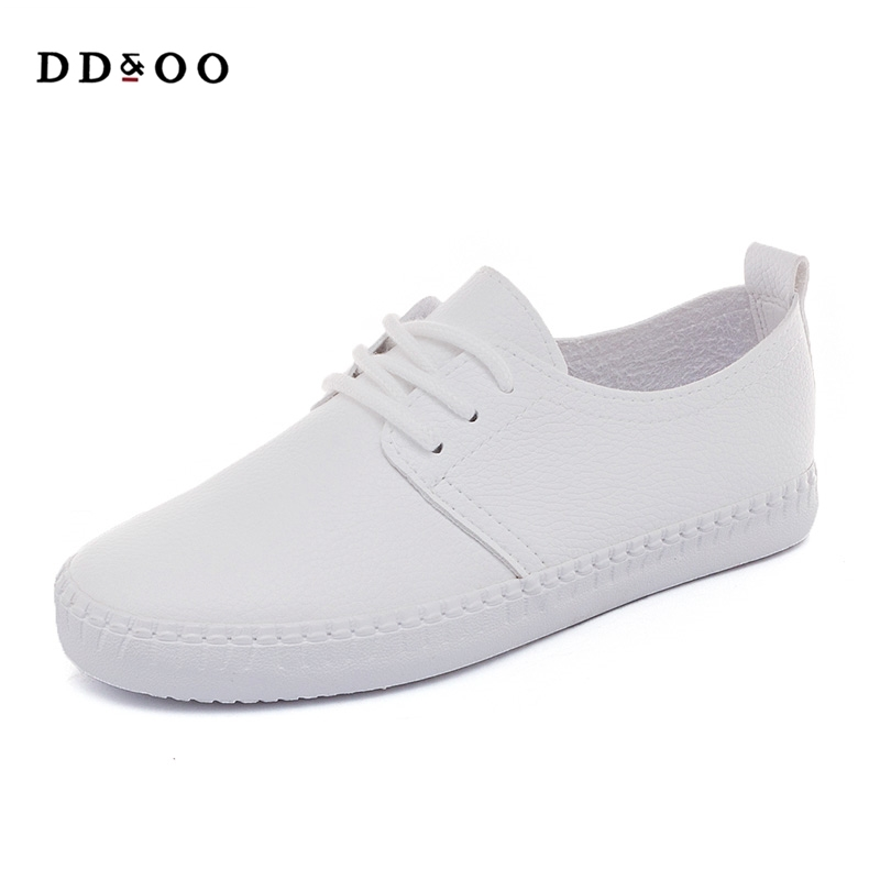 2017 summer new fashion women shoes casual flats PU leather soft solid color simple women casual white shoes sneakers free shipping 2017summer autumn new fashion women shoes casual flats solid breathable simple women casual white shoes sneakers