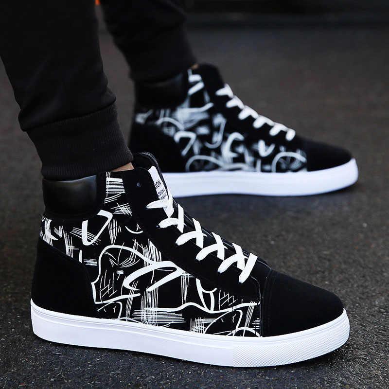Mode Männer Schuhe Neue Männer Casual Schuhe High Top Sneakers Männer Vulkanisierte Schuhe Plattform Turnschuhe Qualität Herren Turnschuhe Masculinas