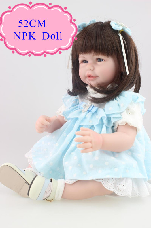 High End Quality 52cm 20inch Lifelike Reborn Baby Doll With Short Hair Hot Welcome Reborn Toddler Doll As Best Acompany Doll Toy short curl hair lifelike reborn toddler dolls with 20inch baby doll clothes hot welcome lifelike baby dolls for children as gift