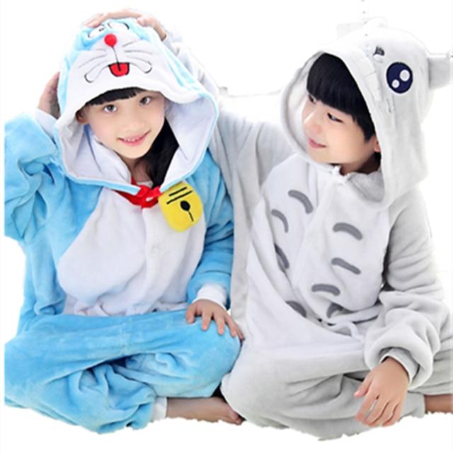 132233d2323e My Neighbor Totolo Onesie Pajamas Anime Blue Cat Kids Cosplay Costumes Gray  Cat Jumpsuit Pyjamas Children Sleepwear Homewear
