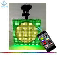 Color bluetooth inalámbrico de control de la aplicación del coche LED pantalla Emoji smiley cara LED coche señal LED tienda signo vehículo LED pantalla