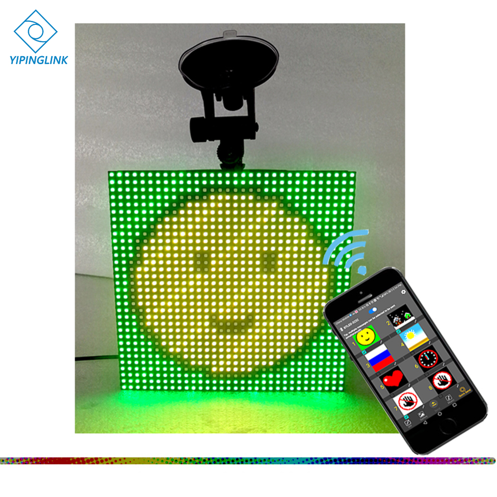 Full Color Wireless Bluetooth App Control Car LED Display Emoji Smiley Face LED Car Sign LED Shop Sign Vehicle LED Display