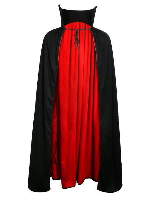 "48""/54"" Fully Lined Vampire Cape Gothic Cloak Wicca Robe Witch Larp Cape Unisex Halloween Costumes Vampires Fancy Party Cosplay"